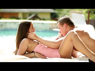 Amirah adara young couple at the pool