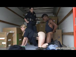 Cutie blowjob first time black suspect taken on a rough ride