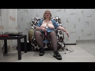 Mature busty lady anal double penetration hairy pussy