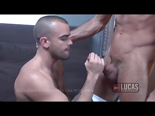 French guy sucks and rides uncut cuban cock