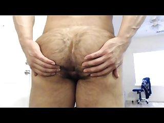 Muscle guy ass show