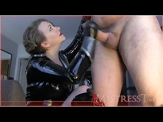 Mistress t get Fag trained on Freak cock