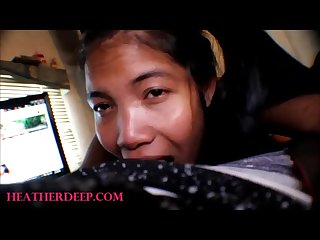 Pigtails Thai teen heather Deep Selfie best deepthroat blowjob in the world