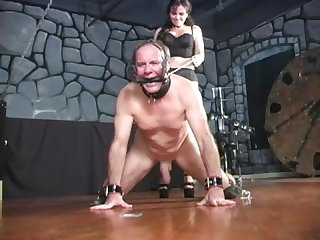 Cruel way of taking manhood femdom ballbusting