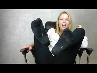 Teasing In Sweaty Black Socks