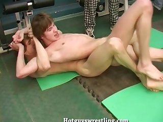 Sports boys fighting naked and jerkoff