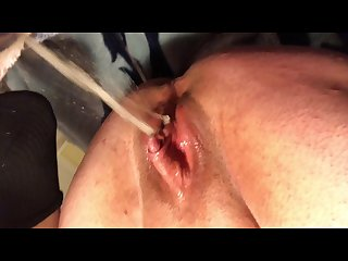 Ftm monster clit wet tranny cunt play and squirting making messes