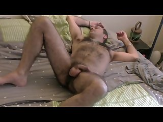 Softcore hairy Drunk guy dreaming