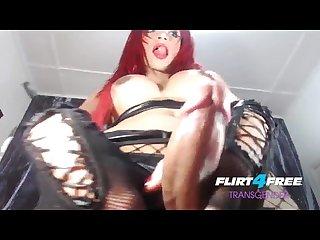 Angelica e on flirt4free transgender redheaded shemale loads of precum