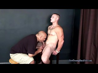 Muscular Hunk\'s Slow Blow Job