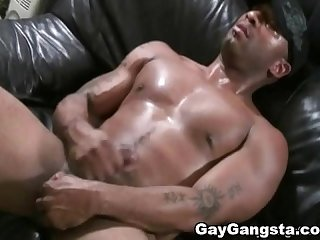 White gay dude sucked big black cock and gets mouth full of cum