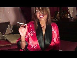 Beautiful woman smokes for you