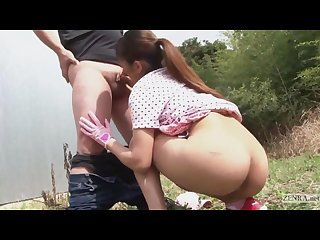 Japanese golf outdoor bottomless miniskirt blowjob penalty round