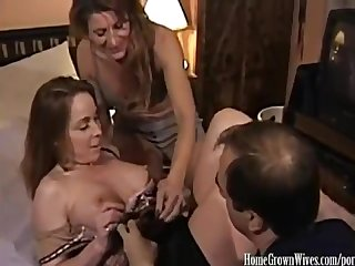 Janine riggs aka Sexxy veronika seduced by hot neighbor couple