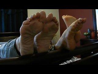Wrinkled milf soles