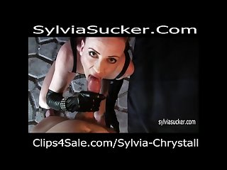 Sloppy pov smoking blowjob with huge facial cumshot sylvia chrystall hd