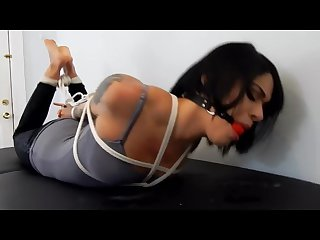 Boston barefoot bound johanna hogtied shoe removal