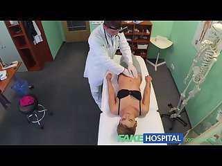 Fakehospital short haired hottie has no insurance but a very tight pussy