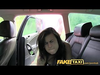 Faketaxi stunning brunette enjoys a thick cock