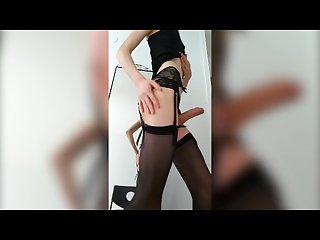 Young crossdresser jerking
