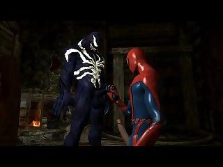 Spiderman and the alien