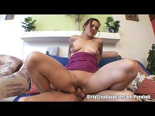 My stepdad s big cock inside my tight wet pussy