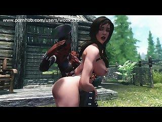Mistress spanking lydia skyrim