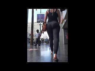 Nice fit ass in tight lululemon leggings walking