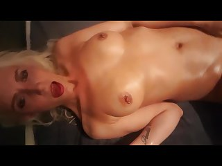 Silent move by oiled up slut