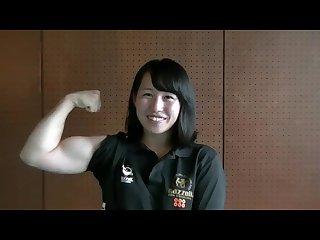 Japanese armwrestler interview she flex