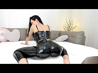 Melissa90sweet sexy tease in latex