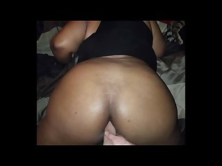 Ebony bbw anniversary anal attempt ends w creampie