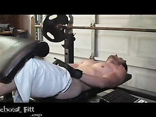 Michael fitt muscle work and cumshot