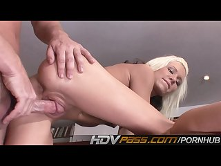 Hdvpass striking hottie gets plugged and creamed