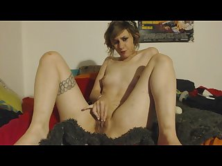 Stoner girl solo session w hitachi ben wa balls