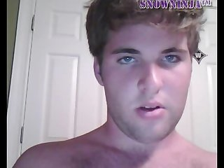Chubby college frat webcam solo