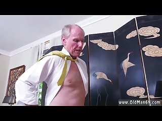 Old granny fucks grandson and old man domination and old mature brunette