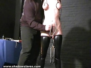 Sensory deprived slaveslut cherry torns leather fetish and extreme bdsm