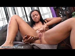 Adrian maya gives her vag a good rub