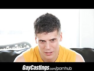 Gaycastings nervous kickboxer has tight hole casting