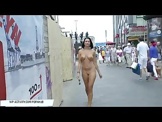 Hot babe diana naked on public streets