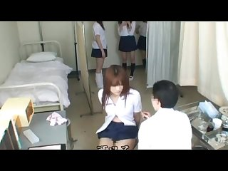 japanese schoolgirls examination in school