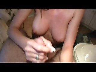 Real amateur girlfriend pov handjob and cumshot