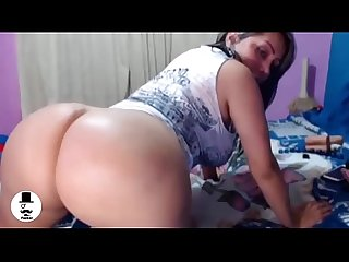 Big ass latina with dildo webcam
