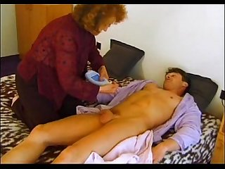 Old Mama goes crazy on son S cock