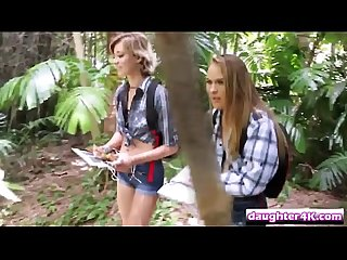 Swapped teens alyssa and haley banged outdoorsull hi 2