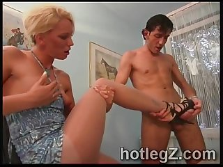 Hot babes please perverts bizarres desires in hot footjob compilation