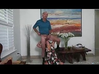 Sexiest makeout b sol w grandpa and milf