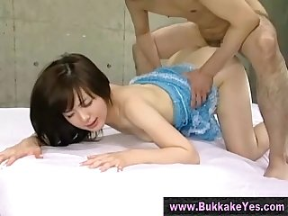 Bukkake asian slut fucked