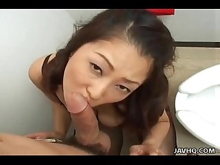 Brunette Japanese vixen marie sugimoto gets her fill from http alljapanese net